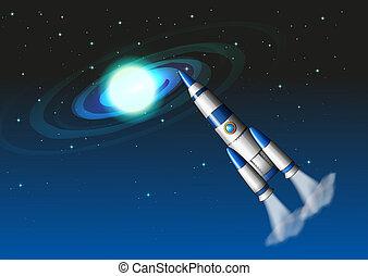 cielo, cohete