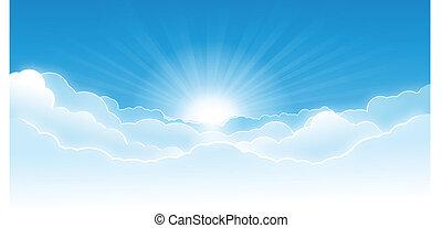 cielo, con, nubi