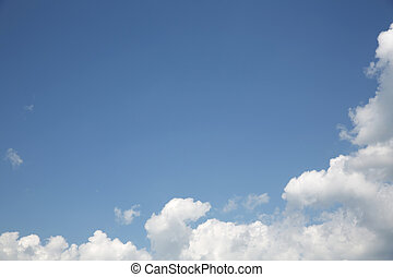 cielo, con, nuvola, fondo