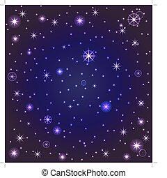 cielo de la noche, con, estrellas