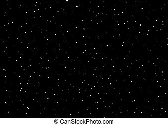 cielo de la noche, con, estrellas, vector