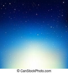 cielo de la noche, estrellas