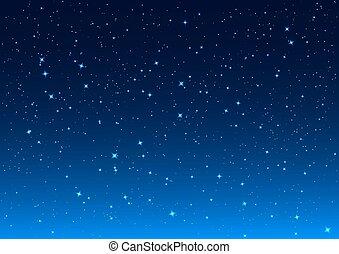 cielo de la noche, estrellas, sky.