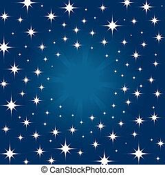 cielo de la noche, plano de fondo, estrella, hermoso