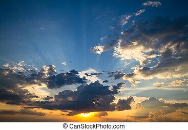 cielo de puesta de sol