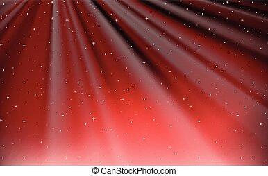 cielo, disegno, fondo, rosso