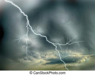 cielo drammatico, tempesta