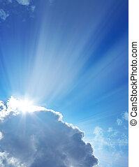 cielo, durante, uno, giorno pieno sole