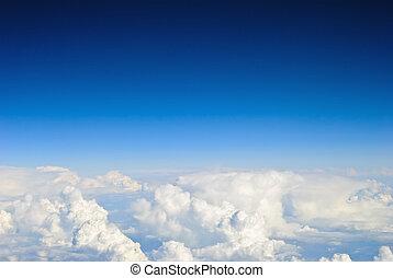 cielo, e, nubi, fondo