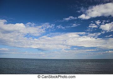 cielo, encima, océano ártico