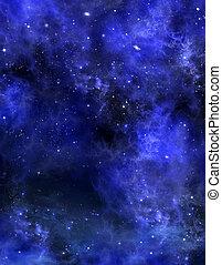 cielo estrellado, plano de fondo, espacio