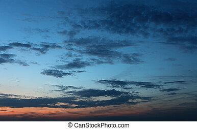cielo, fondo, -, notte