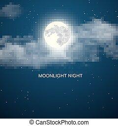 cielo, fondo, notte