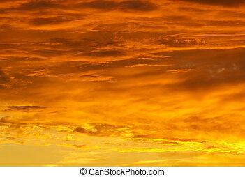 cielo, fondo, tramonto