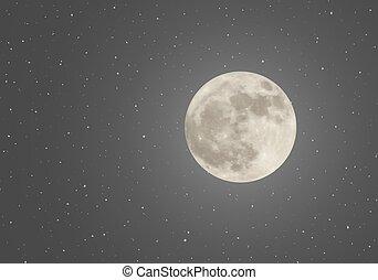 cielo, luna, noche