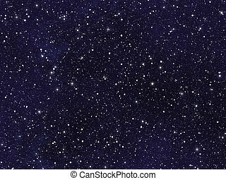 cielo notte, coperto, con, molti, luminoso, stelle