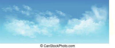 cielo, nubes, azul