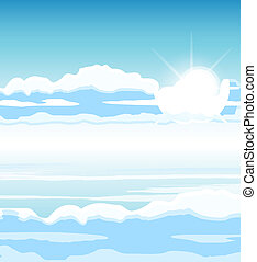 cielo, nubes