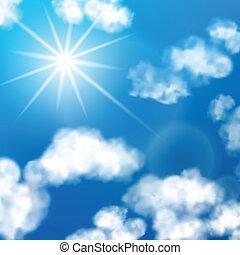 cielo, nubi, fondo