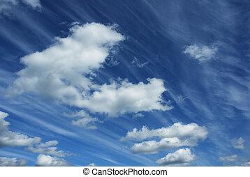 cielo nublado, plano de fondo