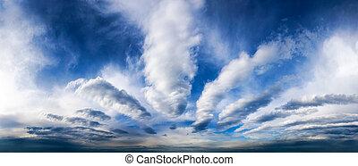 cielo, panorama, con, fantástico, nubes