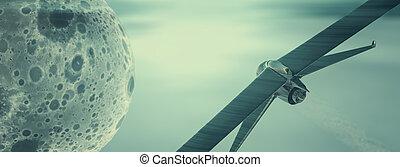cielo, prototipo, surcar, avión