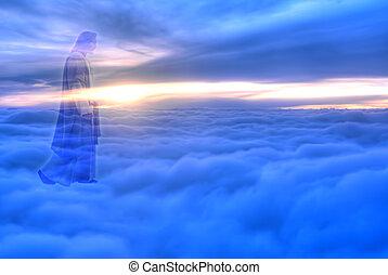cielo, religión, cristo, concepto, jesús