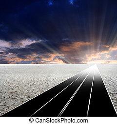 cielo, strada