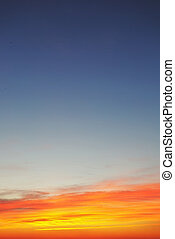 cielo, tramonto, fondo