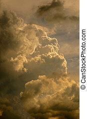 cielo, tramonto, nuvola