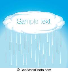 cielo, y, nube, vector, lluvia