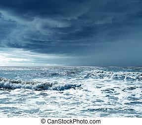 cielo, y, océano