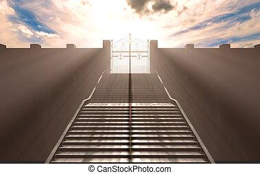 cielos, puertas, escaleras