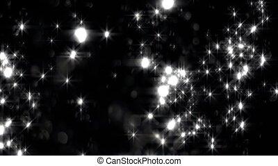 ciemny, białe tło, zatracony, gwiazdy