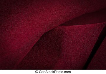 ciemny, czerwony, zmięty, aksamit