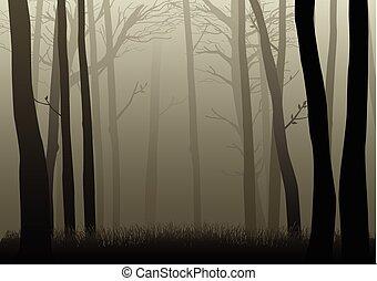 ciemny, drewna