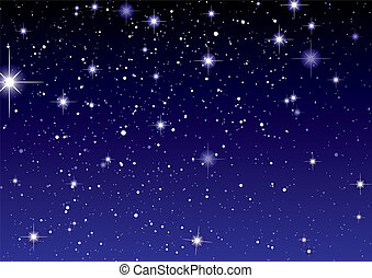 ciemny, gwiazda, przestrzeń, niebo, prospekt