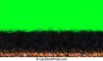 ciemny, klucz, chroma, płonąć, ruch, płomienie, ekran, zielony, ogień