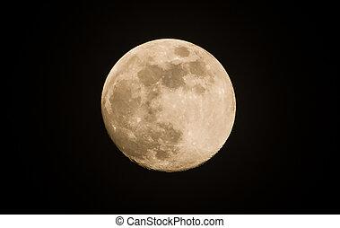 ciemny, księżyc