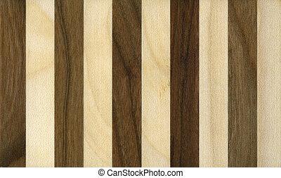 ciemny, lekki, pasy, drewniany