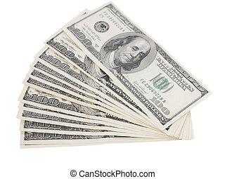 cien dólares, cuenta, aislado