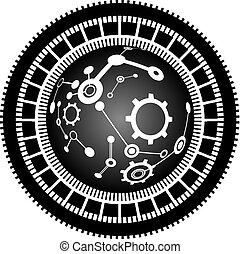 ciencia, círculo, tecnología, figura