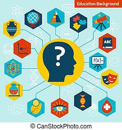 ciencia, concepto, infographics