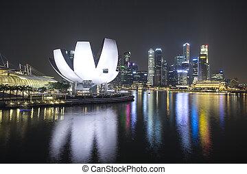ciencia, contorno, museo, singapur