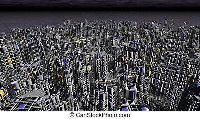 ciencia ficción, ciudad