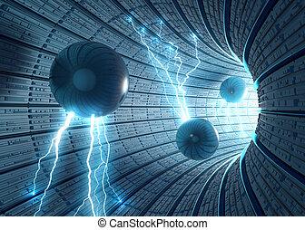 ciencia, plano de fondo, ficción