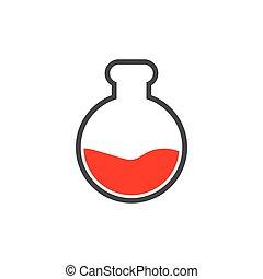 ciencia, plantilla, diseño, gráfico, laboratorio, frasco