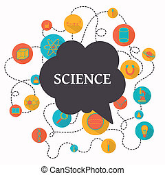 ciencia, vector, plano de fondo