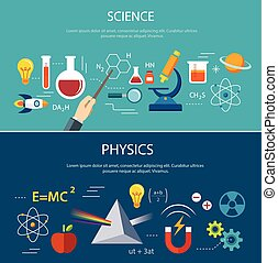 ciencia, y, física, educación, concepto