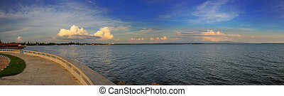 Cienfuegos bay panorama, cuba - Panoramic view of Cienfuegos...